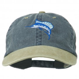 Sailfish Embroidered Two Toned Washed Cap