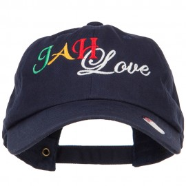 Rasta JAH Love Embroidered Unstructured Cap