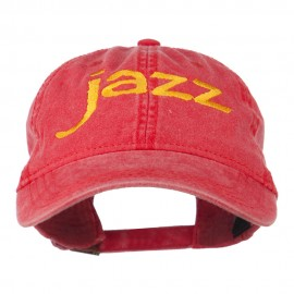 Jazz Embroidered Cotton Cap