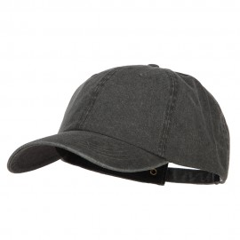 Big Size Washed Pigment Dyed Cap - Black