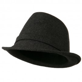 Women's Jewel Button Fedora Hat