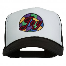 Joy Embroidered Two Tone Foam Mesh Back Cap