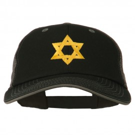 Jewish Star Embroidered Big Size Mesh Cap