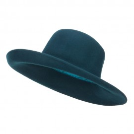 Women's Upturned Wide Brim Wool Hat