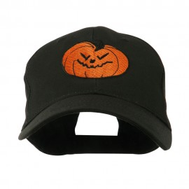 Halloween Evil Jack O Lantern Embroidered Cap