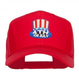 4th of July Top Hat Patched Cap