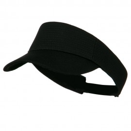 Athletic Jersey Mesh Sports Visor - Black