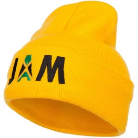 Jamaica JAM Flag Embroidered Long Beanie