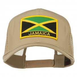 Jamaica Flag Letter Patched Mesh Back Cap
