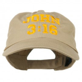 John 3:16 Embroidered Pet Spun Cap