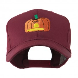 Halloween Jack O Lantern Pumpkin Embroidered Cap