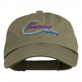 Jet Powered with wave Embroidered Washed Cap