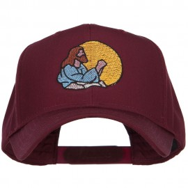 Jesus Praying Embroidered Twill Cap