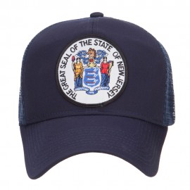 New Jersey State Seal Patched Mesh Cap