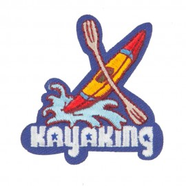 Kayaking Embroidered Patches