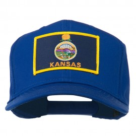 Middle State Kansas Embroidered Patch Cap