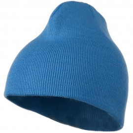 8 Inch Knitted Short Beanie - Sky Blue