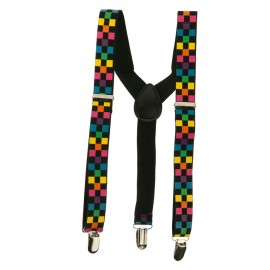 Kid's Colored Checkered Suspenders