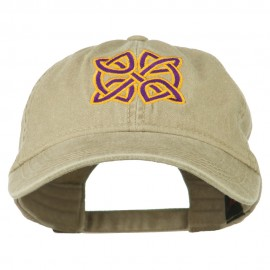 Celtic Circle Knot Embroidered Cotton Twill Cap