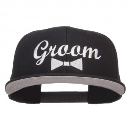 Groom Bow Tie Embroidered Cotton Snapback