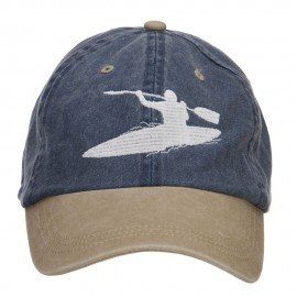Kayak Embroidered Washed Two Tone Cap