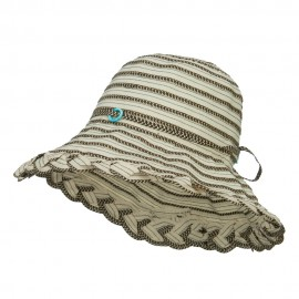 Classic Braid Striped Bucket Hat