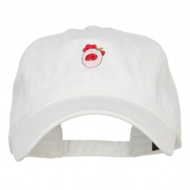 Easter Chicken Egg Embroidered Washed Cap
