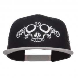 Dead Skull Art Embroidered Mesh Snapback