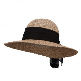 Accent Scarf Straw Sun Hat