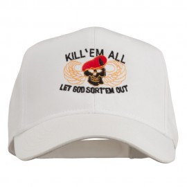 Kill Them All Embroidered Cap - White