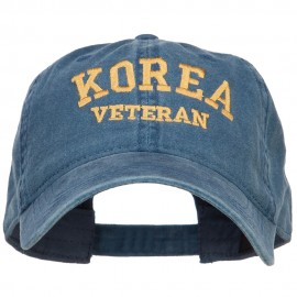 Korea Veteran Embroidered Washed Cap