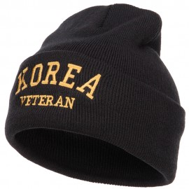 Korea Veteran Embroidered Long Beanie