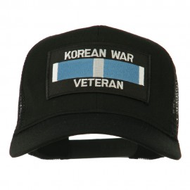 Korean War Veteran Patched Mesh Cap