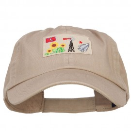 USA State Kansas Patched Low Profile Cap