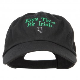 Kiss This Irish Embroidered Low Cap