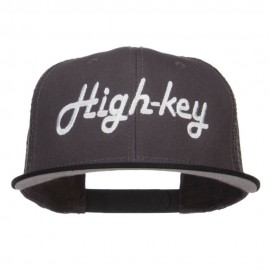High Key Embroidered Premium Mesh Snapback