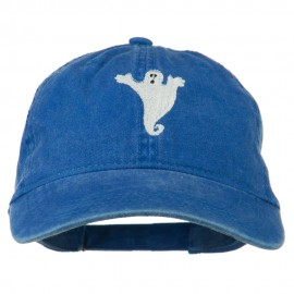 Halloween Spooky Ghost Embroidered Washed Dyed Cap
