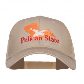 Louisiana Pelican State Embroidered Mesh Cap