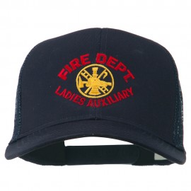 Fire Dept Ladies Auxiliary Embroidered Mesh Cap