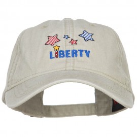 Liberty Embroidered Washed Cap