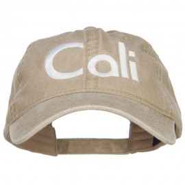 Cali Embroidered Washed Cap