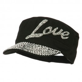 Love Embellished Military Cap