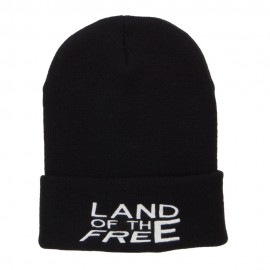 Land of the Free Embroidered Long Beanie