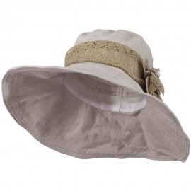5 Inch Brim Lace Flower Accent Hat