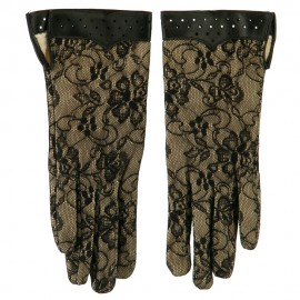 Women's Lace Lined Floral Glove