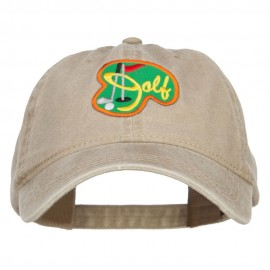 Golf Sport Patched Washed Cap