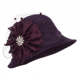 Flower Crystal Net Pom Wool Cloche