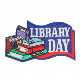 Library Embroidered Patches