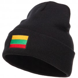Lithuania Flag Embroidered Long Beanie