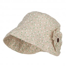 Women's Floral Rolled Brim Bucket Hat